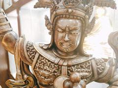 (面部小圖)藏族格薩爾王銅像